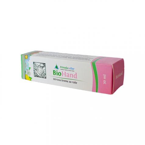 BioHand biljna krema za ruke sa mirisom domaće ruže 30 ml